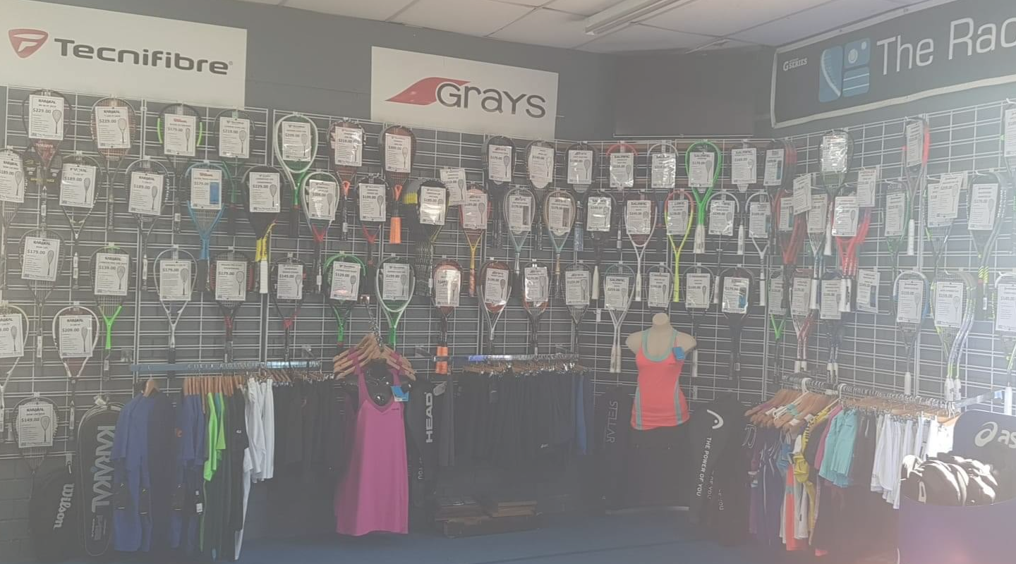 Fully loaded Pro Shop with stringing services and online store for easy access. great gear at great prices